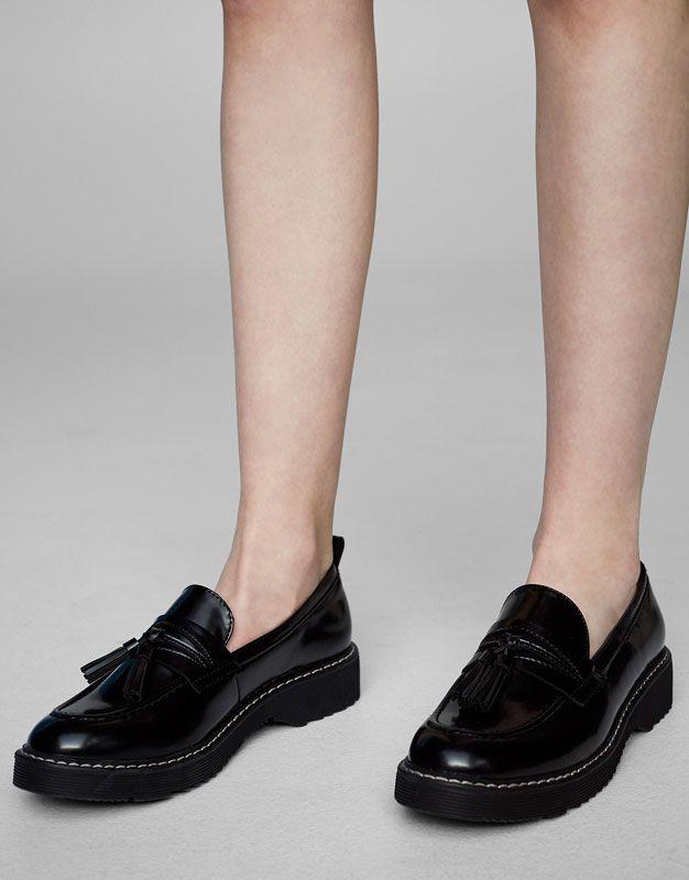 Mocasín antifaz borlas Zapatos planos Calzado Mujer