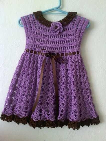 Vestido Bebe Ternura Crochet By Gabriela Miranda Excelente ...