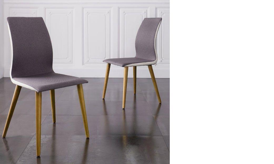 Chaise salle a manger grise en tissu et pieds en bois design martha chaise design chaise - Chaises salle a manger bois et tissu ...