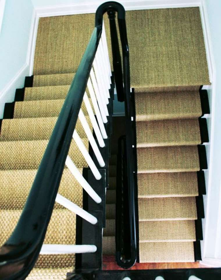Idee Moquette Escalier Jonc De Mer Treppe Treppe Haus Treppenhandlauf