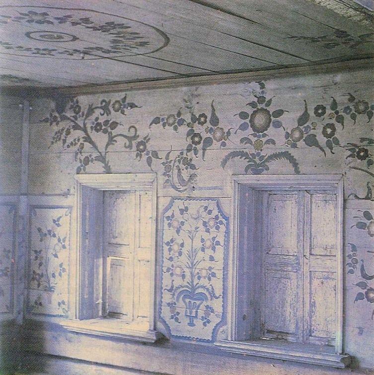 Тропинка к дому. Уральская домовая роспись.the traditional painting in house.Sverdlovsk area.Ural. Russia