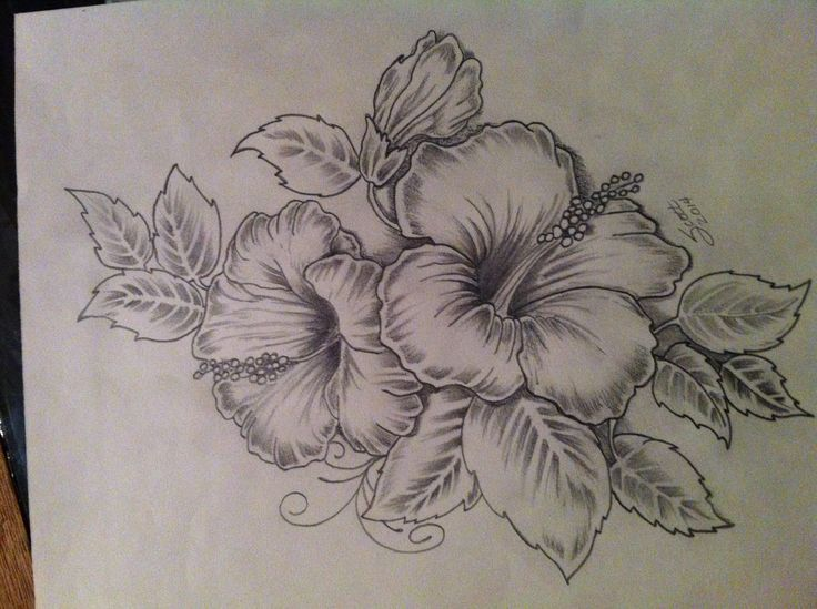 Hibiscus Tattoo Artwork My Take On An Existing Design Will Be