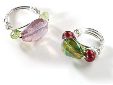 Make a Threaded Crystal Ring