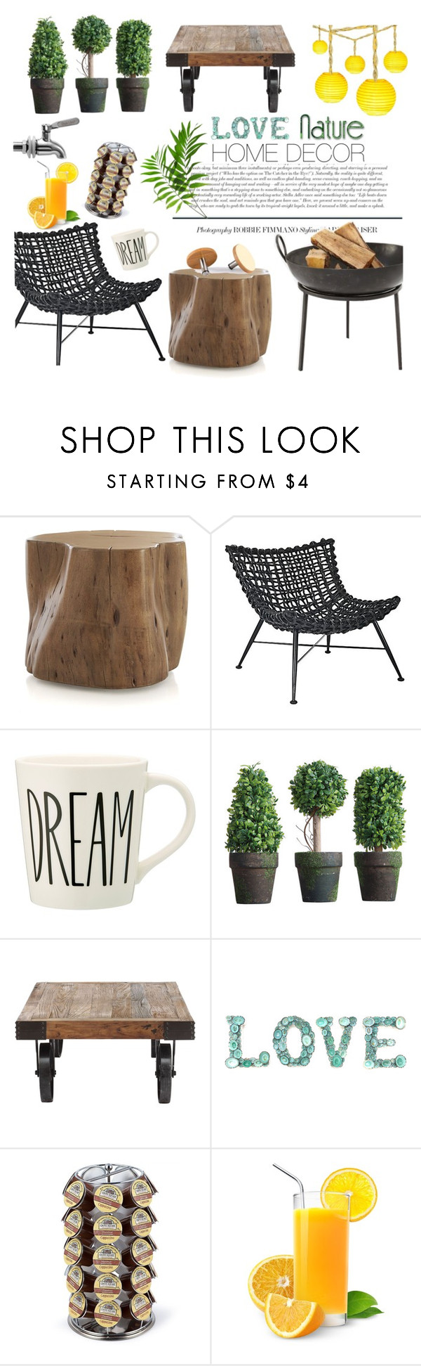 Love Nature by ioakleaf on Polyvore featuring interior, interiors, interior design, home, home decor, interior decorating, Zuo, Crate and Barrel and Keurig