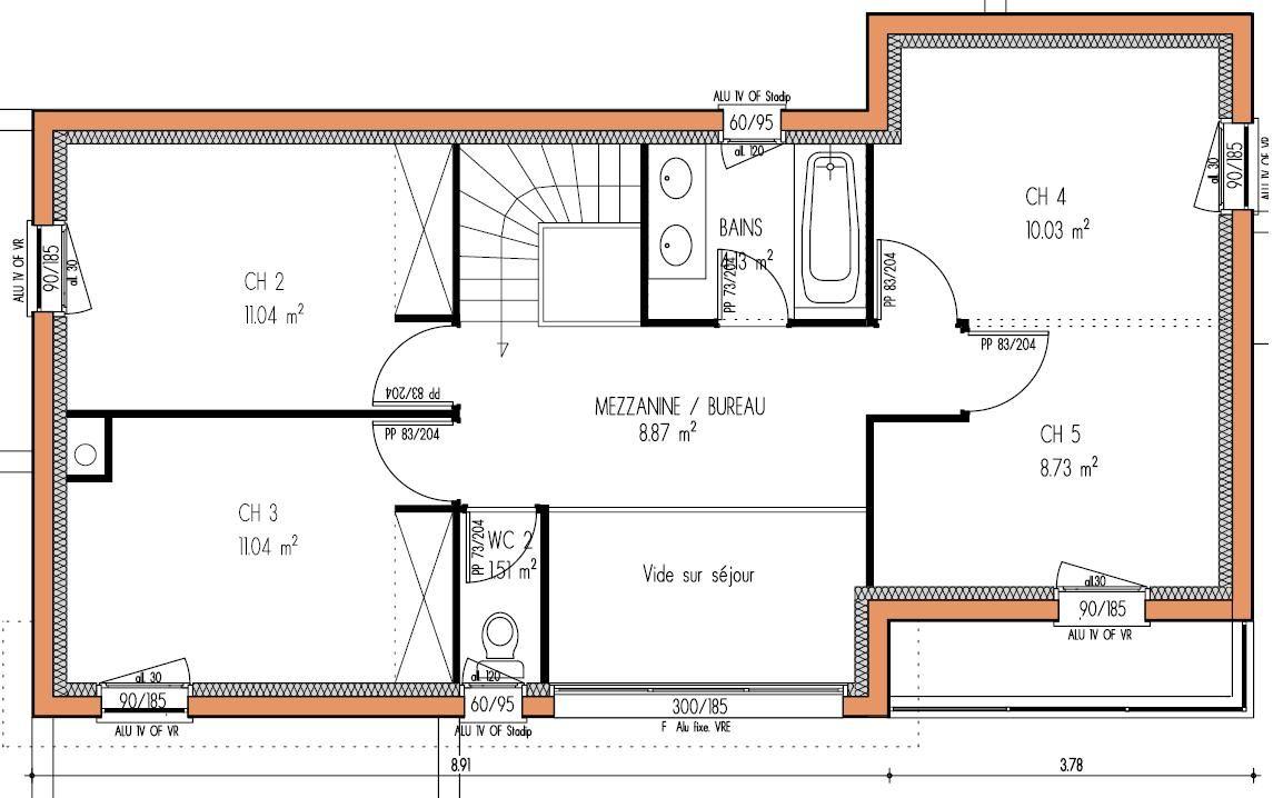 plan maison moderne etage gratuit