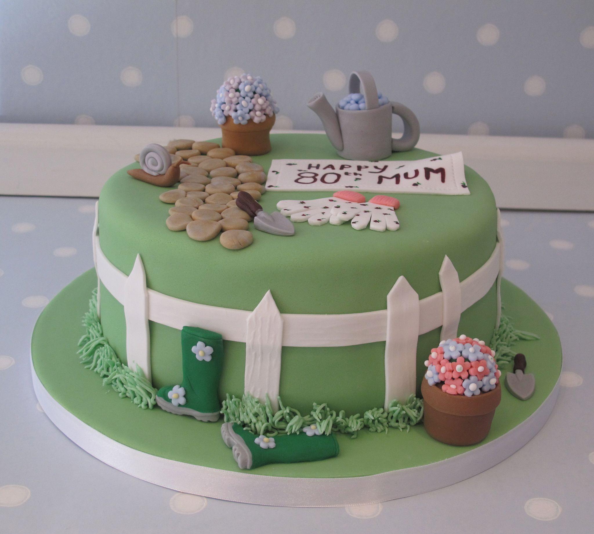 Garden Themed Cake For Don S Mum S 80th Birthday 90th Birthday