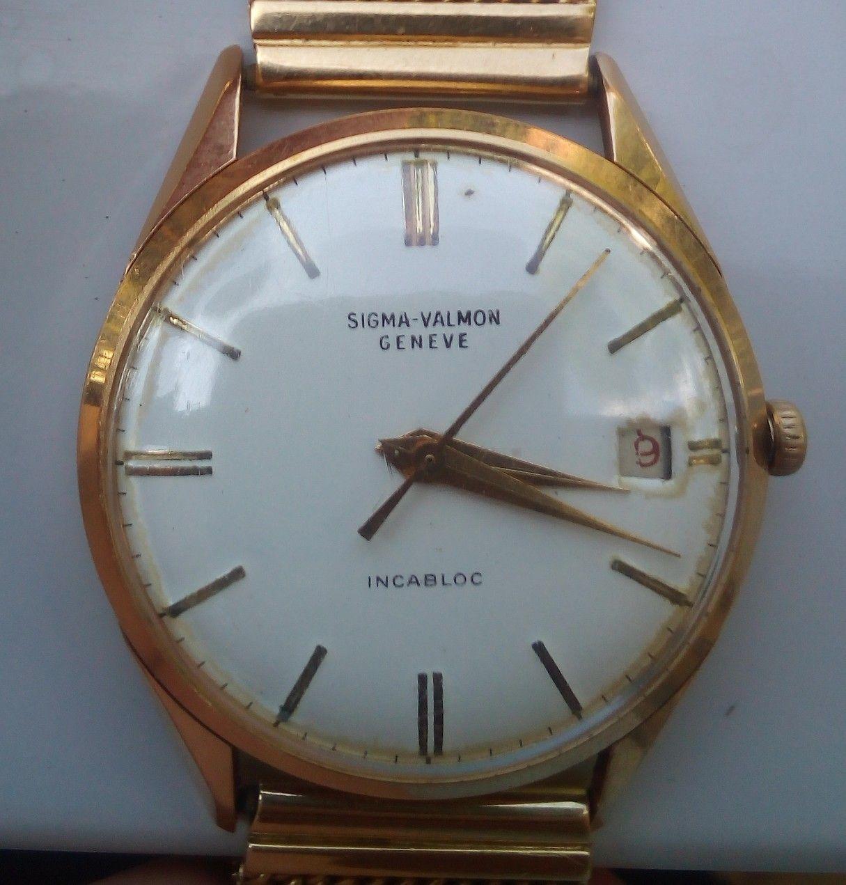 8c5e370bcfcc Sigma-Valmon Genève Manual wrist Incabloc 1960s