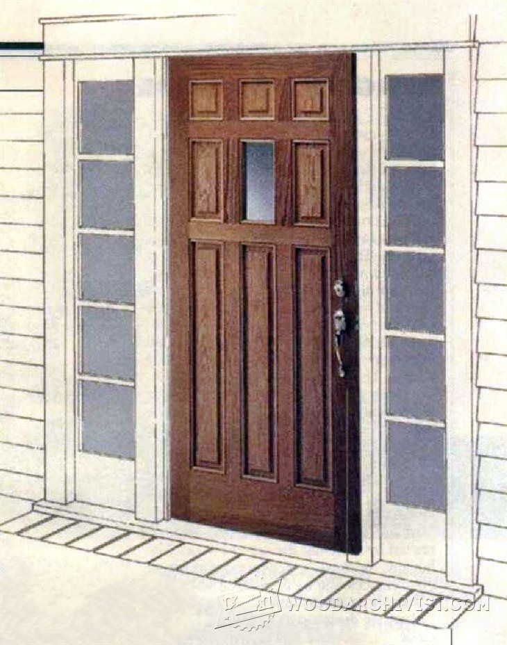 1831 Making Raised Panel Entry Doors Plans Pinterest Doors