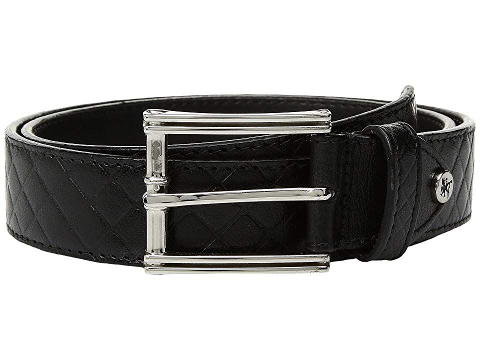 Stacy Adams Webster Black Mens Belts Webster by Stacy Adams is a preppy inspired belt sure to complete you look in handsome fashion Constructed of genuine leather Single...