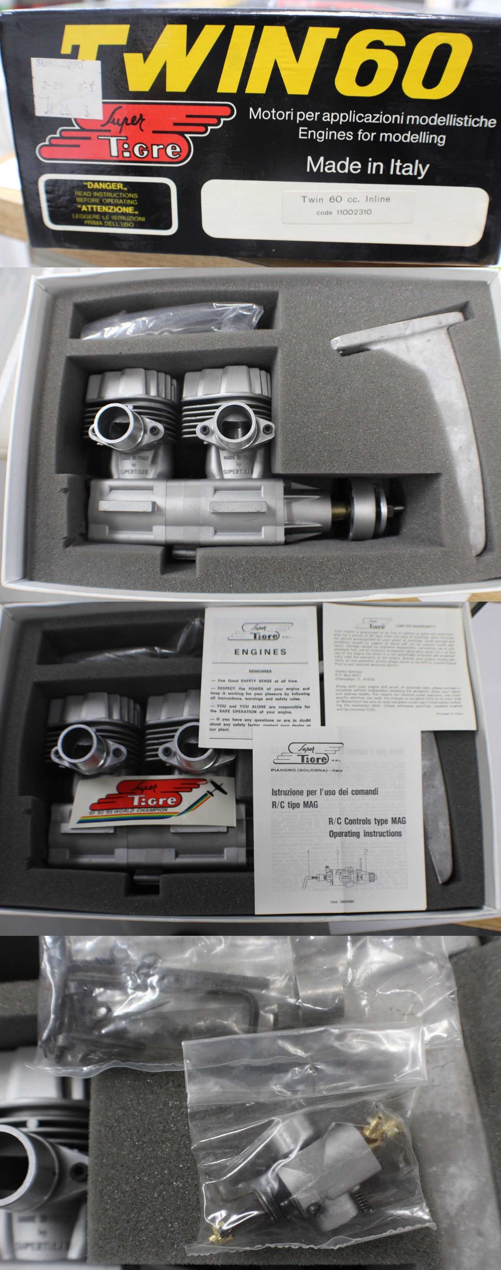 RC Plans Templates and Manuals 182212: Vintage Super Tigre Twin 60Cc