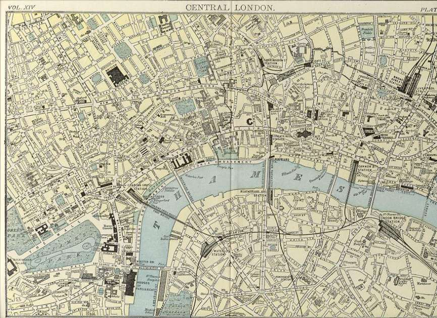 Map Of Central London 1900 Historical Maps Pinterest: London Map 1900 At Infoasik.co