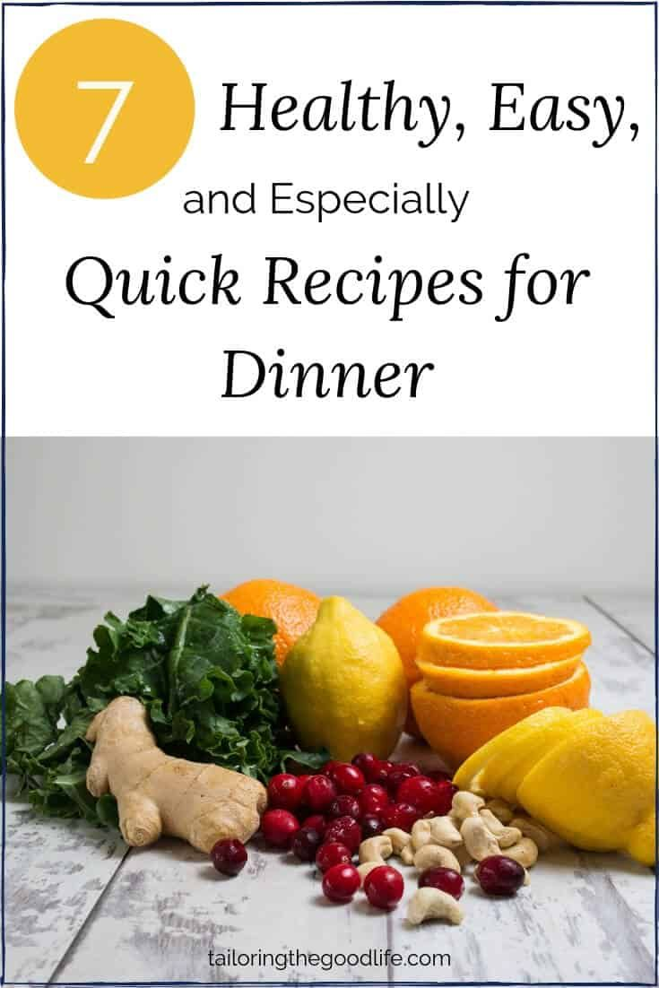 7 Healthy, Easy, and Especially Quick Recipes for Dinner images