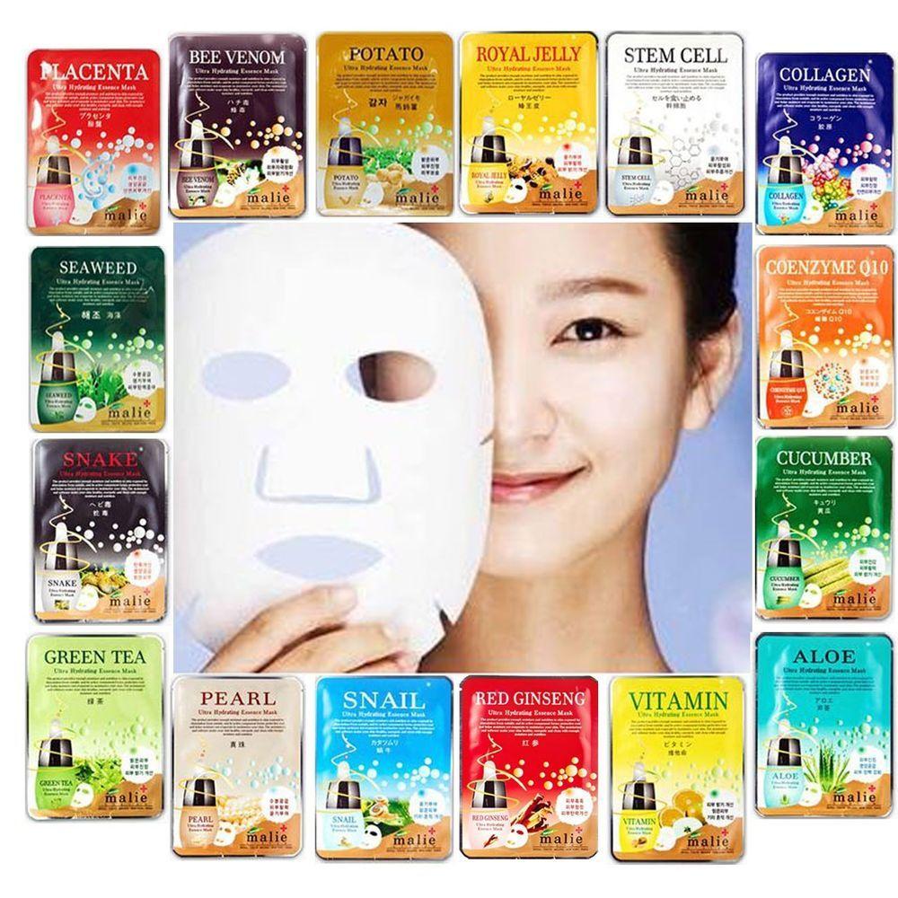 30 Pcs Face Mask Sheet Nose Pack Facial Skin Care Moisture Essence Secret Key Nature Recipe Tea Tree 20g 3pcs 16 Nutrition Korean New Malie