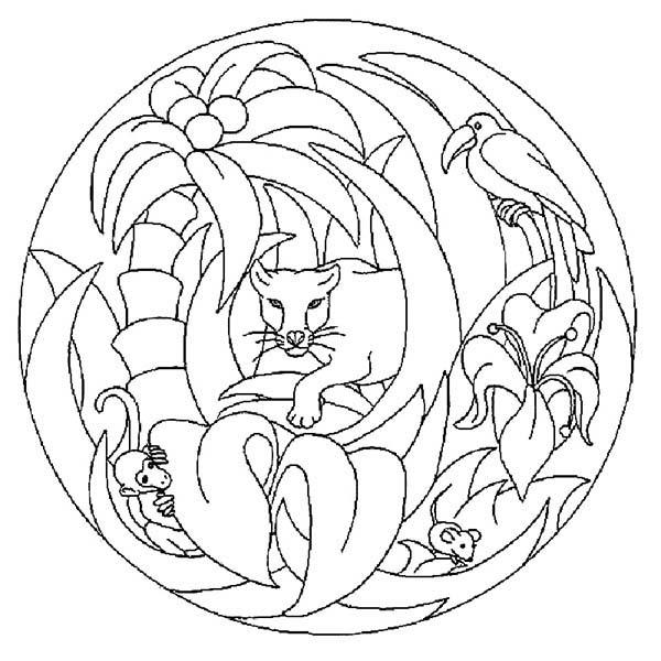 Jungle Animals Mandala Animal Coloring Pages Bulk Color Mandala Ausmalen Malvorlagen Tiere Mandala Malvorlagen