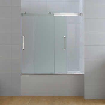 Bathtub Doors Ove Beacon Double Sliding Frosted Glass Tub Door
