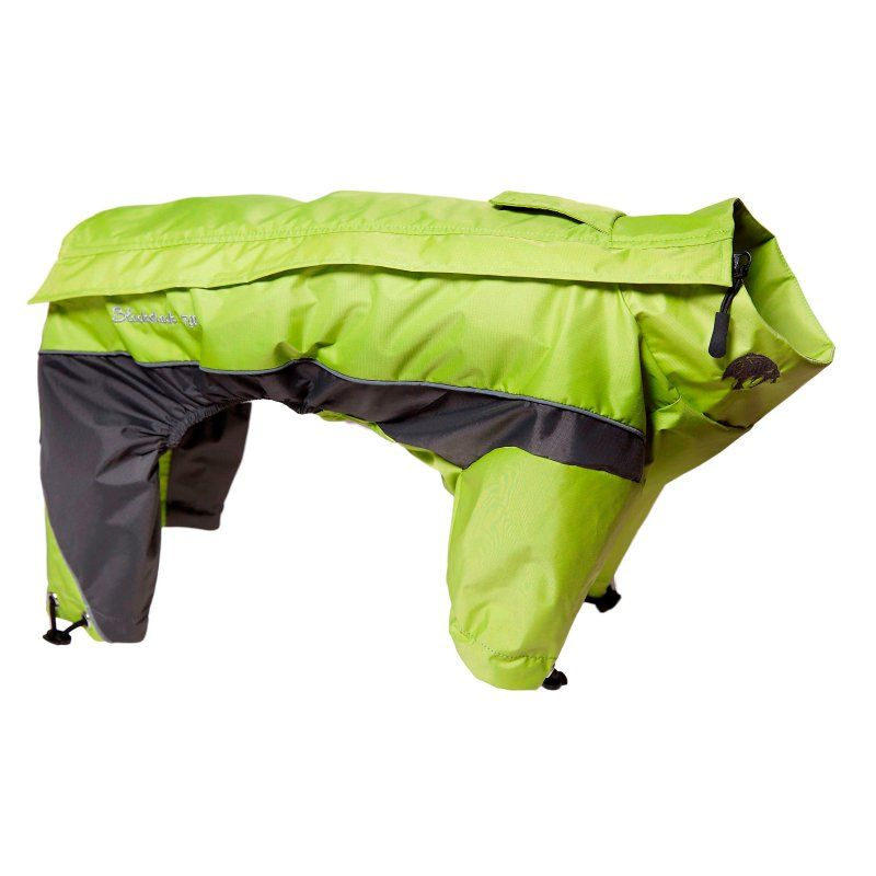 Touchdog Quantum-Ice Full-Bodied Adjustable and 3M Reflective Dog Jacket with Blackshark Technology Green/Grey - JKTD3YLXL