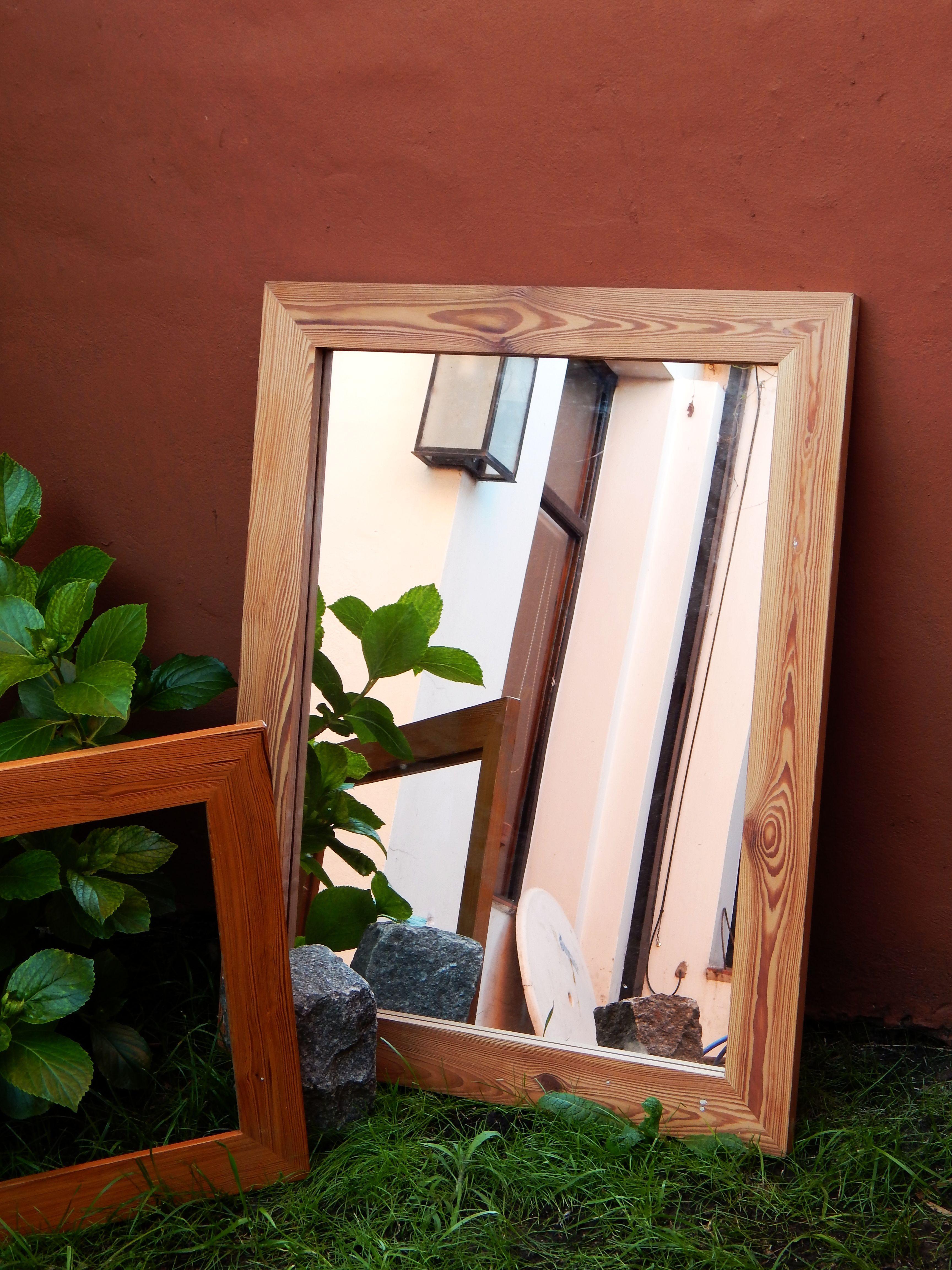 Espejo con marco de pinotea | Mesas, espejos, marcos... | Pinterest ...