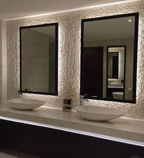 LED-Lichtleiste einfarbig mit Wanddimmer - 16 Fuß (Kit) - Beleuchtung #simplebathroomdesigns