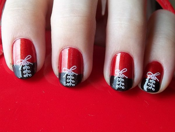 45 stylish red and black nail designs red nails red nail art 45 stylish red and black nail designs prinsesfo Gallery