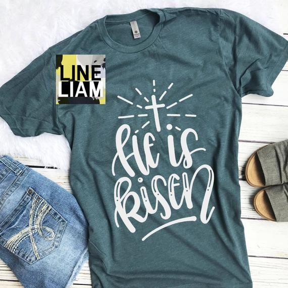 1e39fcea he is risen shirt, womens easter shirt, christian easter shirt, womens  faith shirt, jesus shirt, chr