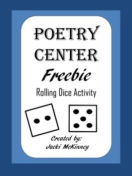 This free activity provides students the opportunity to enjoy and investigate poems.Teachers can differentiate and meet the needs of all students through this game. This is a minimal prep center, requiring only a dice with the printables and any poetry the class has read.