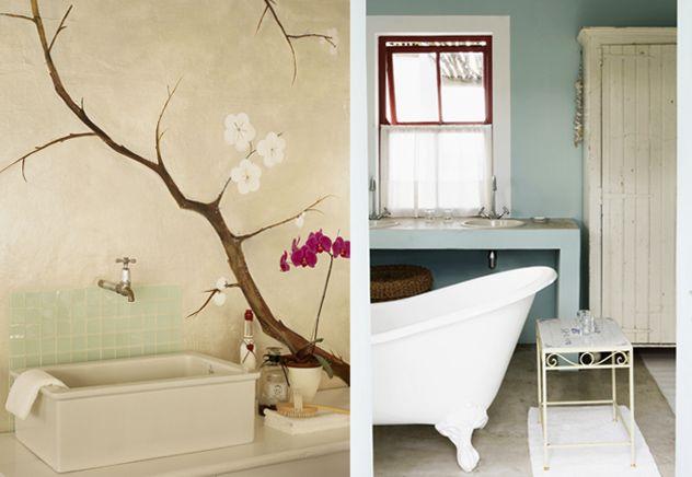 Bruhigende Farben für das Badezimmer
