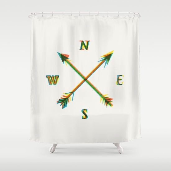 Compass Shower Curtain By Fimbis Society6 Curtains Shower