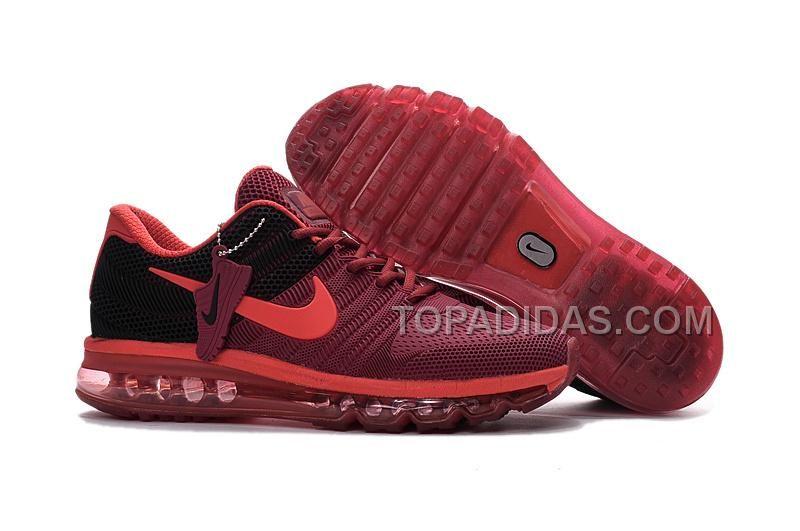 9d28b3fe3229a5 Shop Runs 2017 Offer Discount Sale Nike Air Max 2017 KPU Wine Red Black Men  Sneakers