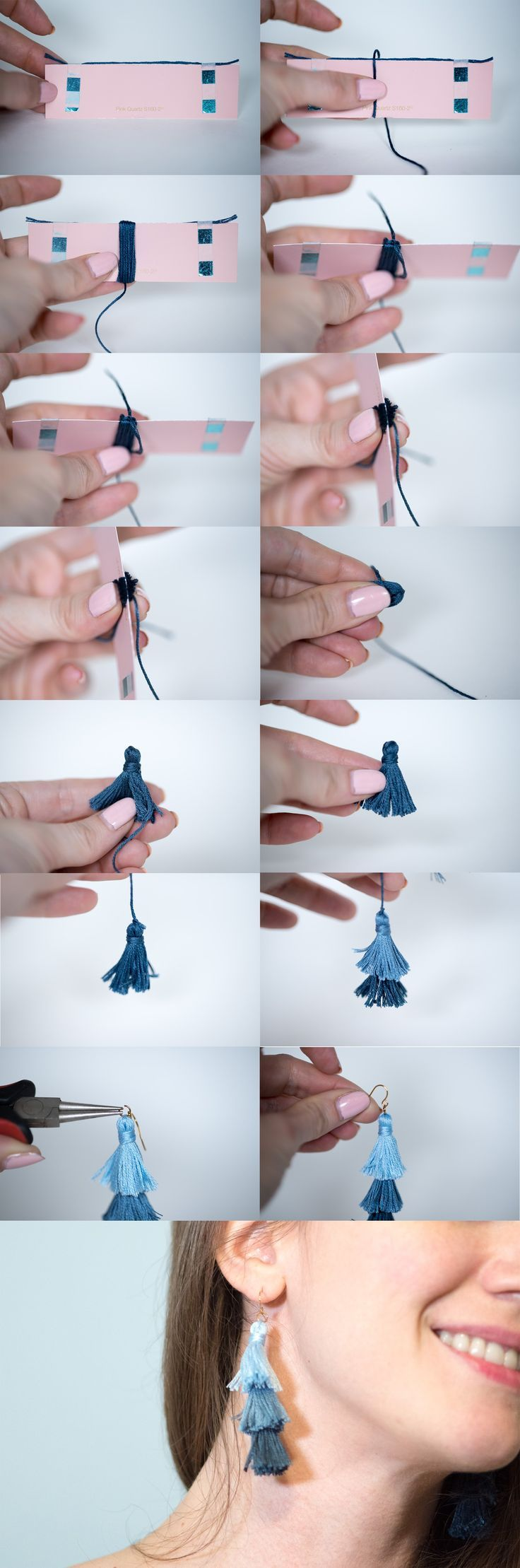 Photo of DIY Ombre Stacked Tassel Earrings – Likely By Sea