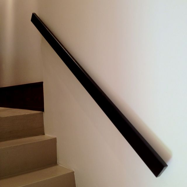 White Grab Rail Set Close To The Wall Instead Of Hand Rail We Need Something For The Two Sets Of Stairs Staircase Handrail Handrail Stair Handrail