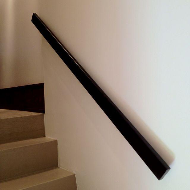 Patinated Bronze Grab Rail Staircase Handrail Handrail Stair | Stair Railings Near Me | Steel | Metal Stair Parts | Deck | Spindles | Deck Railing