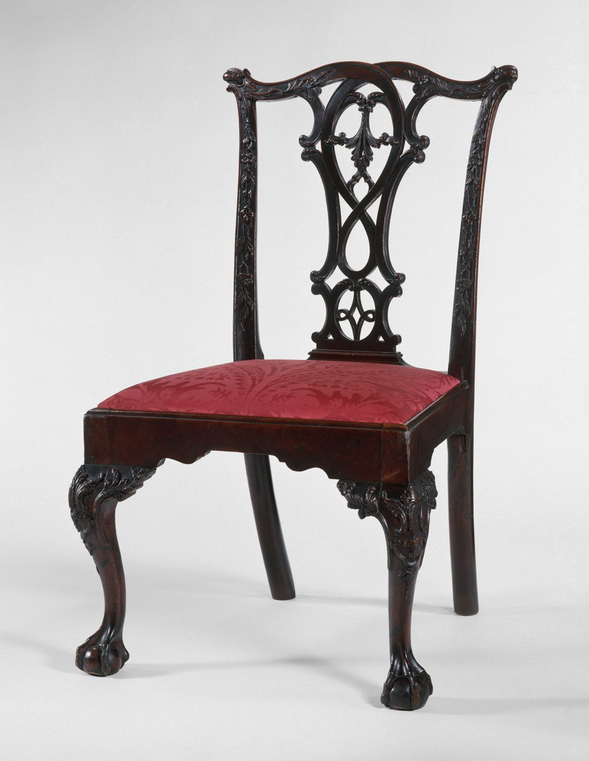 Good Chippendale Chairs Part - 12: Philadelphia Chippendale /( Georgian) Mahogany And Yellow Pine Side Chair.  1765-75
