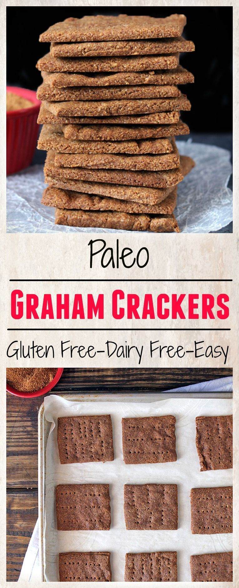 Graham Crackers- easy to make, lightly sweetened, and so delicious! A gluten free, dairy free version of the classic that you will love!