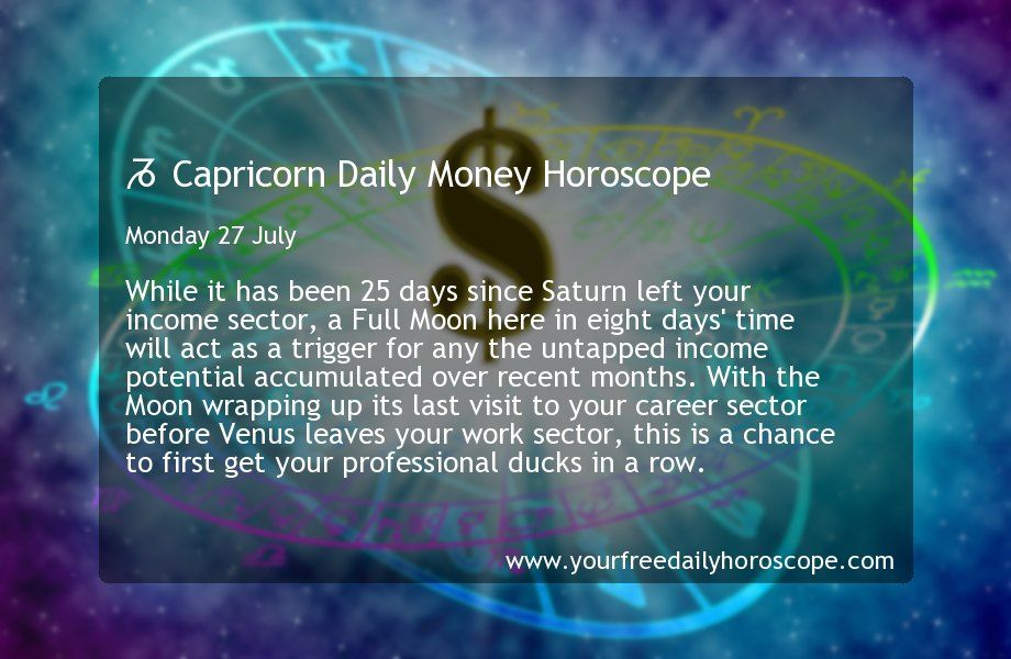 Your free Capricorn money horoscope for today, this week