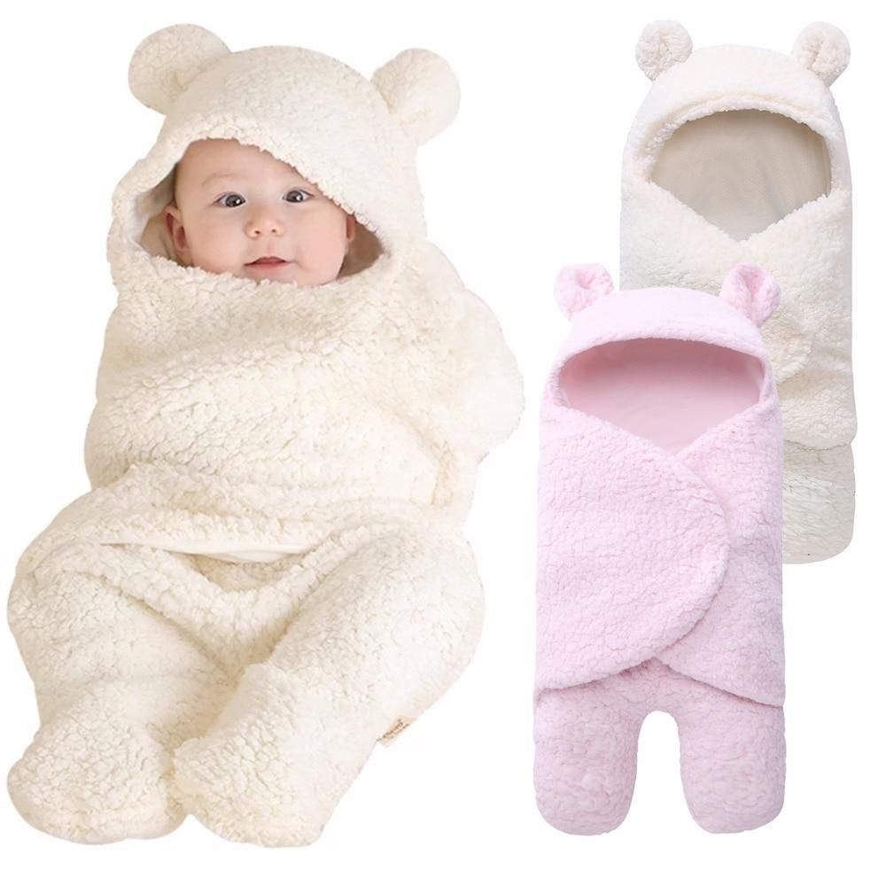 Schlafsack Baby Winter Newborn Baby Swaddle Wrap Soft Winter Baby Bedding Babies Baby