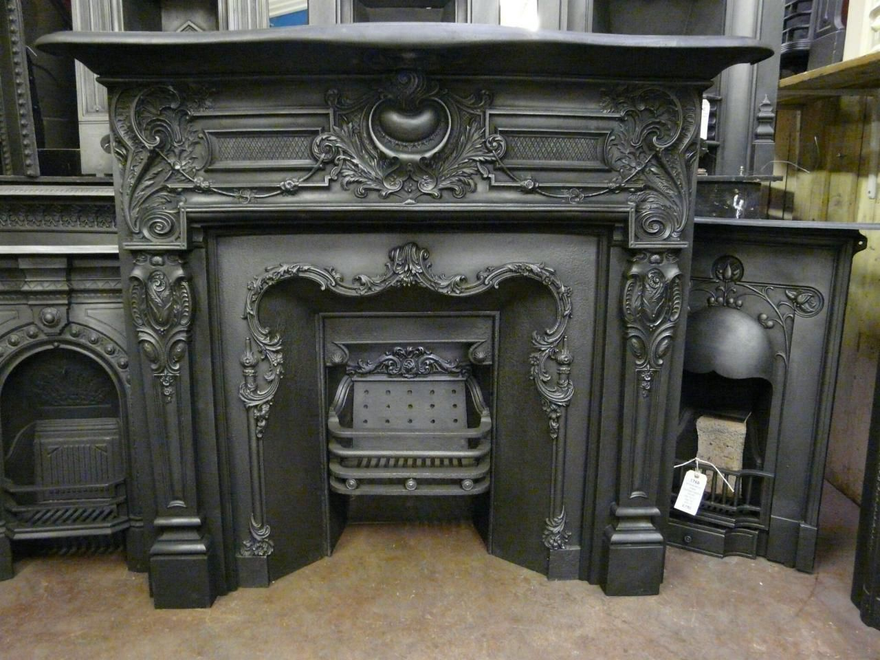 antique metal fireplace surround fireplace pinterest antique