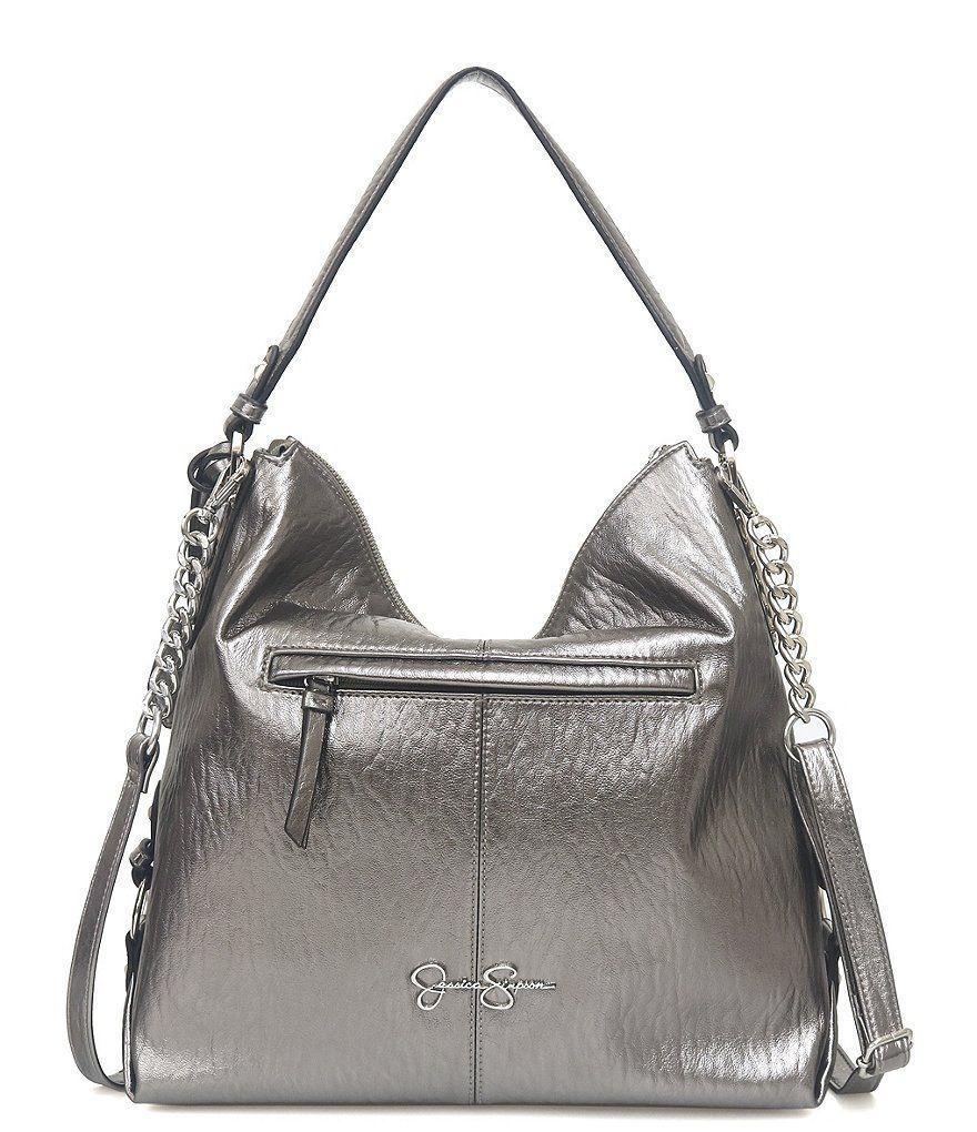 Jessica Simpson Ryanne Metallic Hobo Bag Ryanne 27637e0014bf1