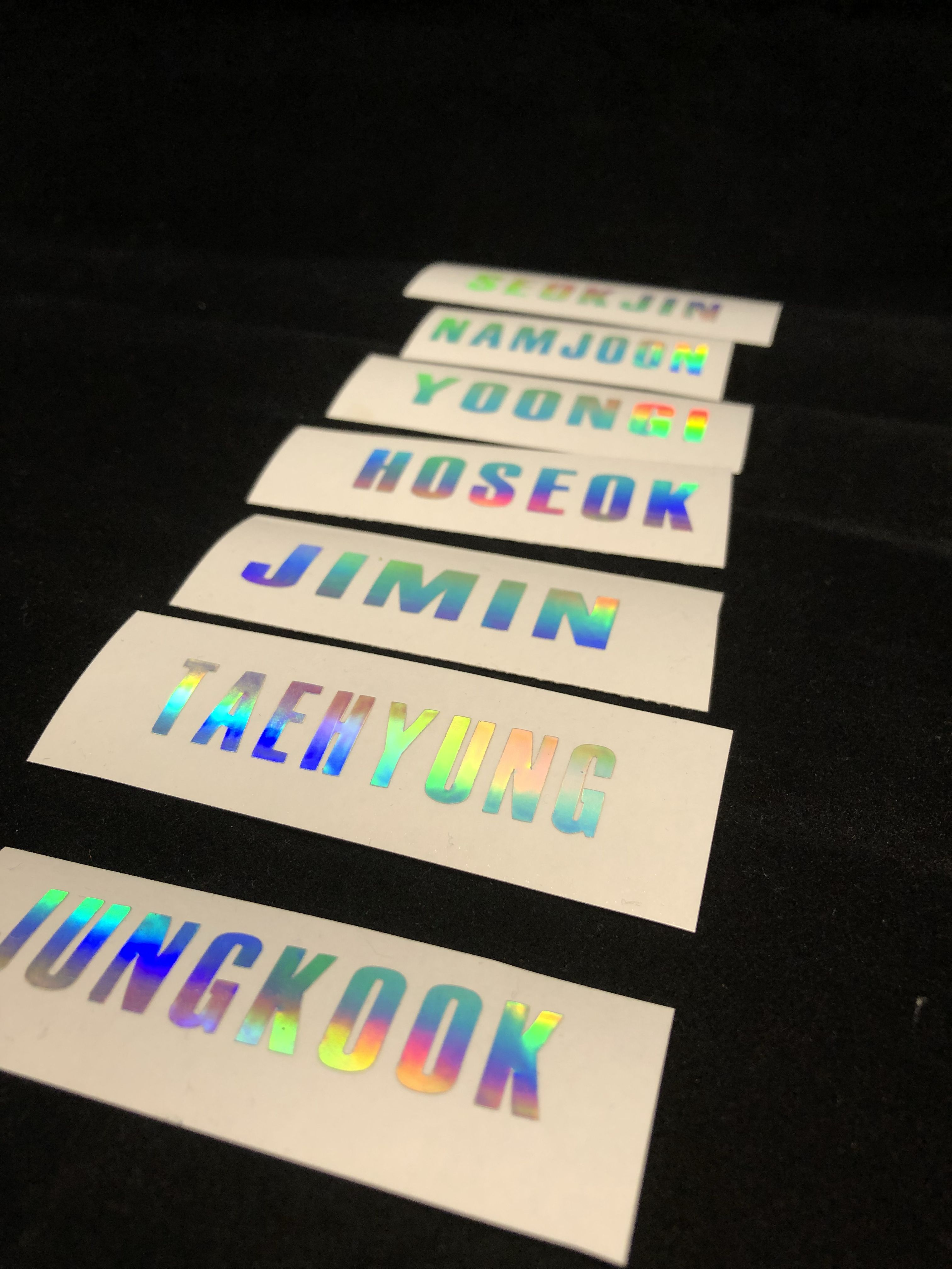 Version 3 custom army bomb lightstick decals get yours before the tour date you can custom design what you want
