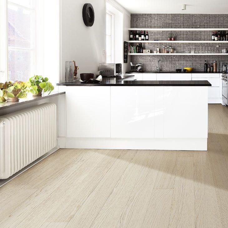 Other Option For The Kitchen White Cabinets Black Floor: Vitbetsad Ek Köksgolv - Sök På Google