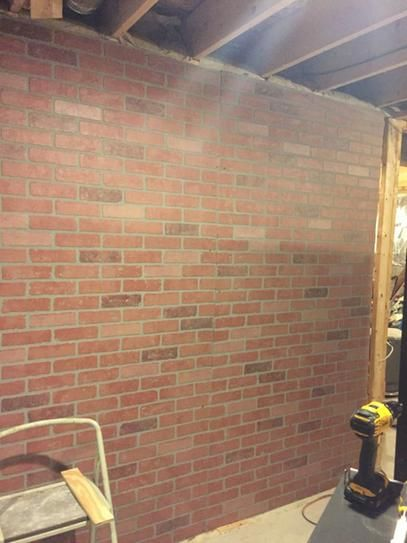 1 4 In X 48 In X 96 In Kingston Brick Wall Panel 278844 The Home Depot Faux Brick Walls Brick Wall Paneling Faux Brick Panels