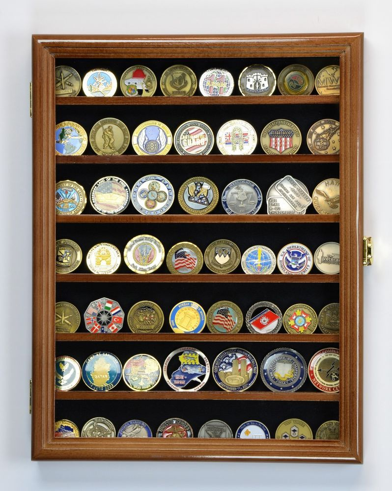 U S Marines Police Challenge Coin Cabinet Display Case Holder Rack Usa Military Navy Arm Challenge Coin Display Coin Display Case Challenge Coin Display Case