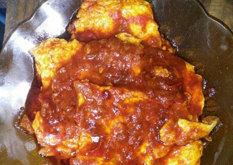 Resep Telur Dadar Sambalado Oleh Hwa Yurie Resep Telur Dadar Telur Makanan