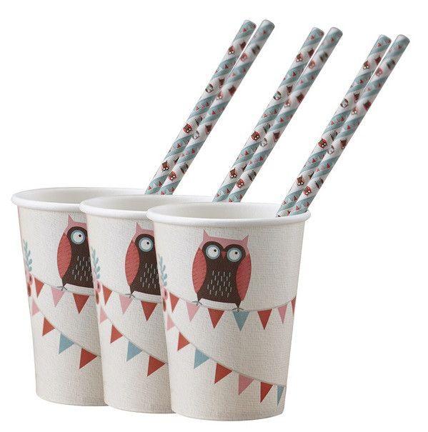 Copos de Papel - Little Owl à venda na DayDream Festas