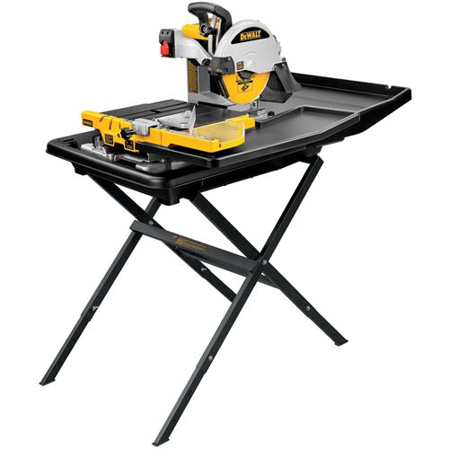 D24000s 10 Wet Tile Saw With Stand Dewalt Tools Tile Saw Sliding Table Table Saw