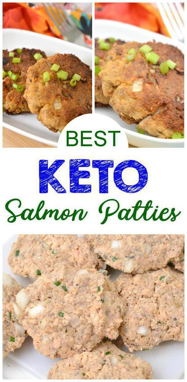 BEST Keto Salmon Patties! Low Carb Salmon Patties w/ Pork Rinds – Quick & Easy Ketogenic Diet Recipe – Completely Keto Friendly images