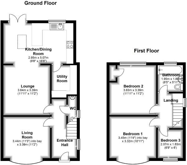 Floorplan Kitchen House Extension Plans 1930s House Extension