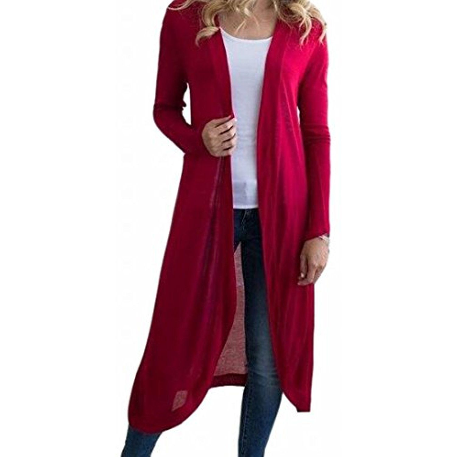 Women's Long Sleeve Ligthweigth Open Front Cardigan Sweater * You ...