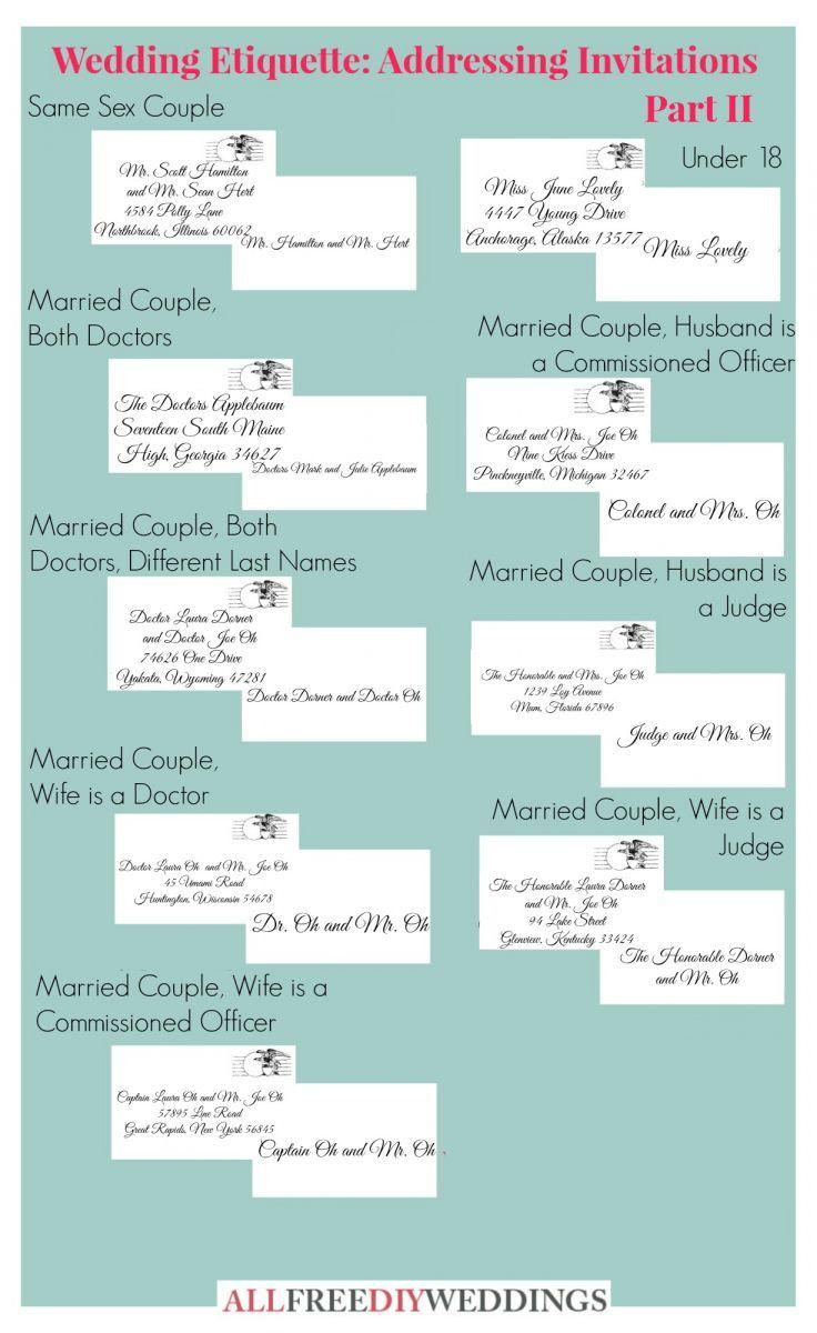 Wedding Invitation Etiquette: How to Address Wedding Invitations ...