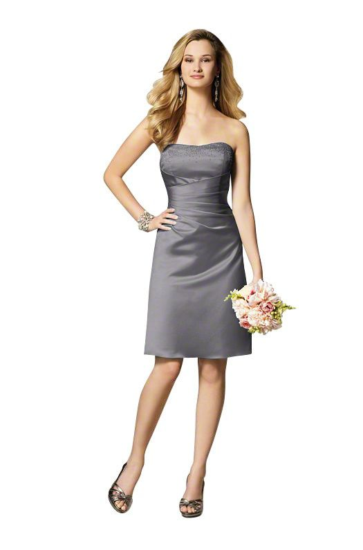 Strapless...Alfred Angelo 7027 S Bridesmaid Dress | Weddington Way ...
