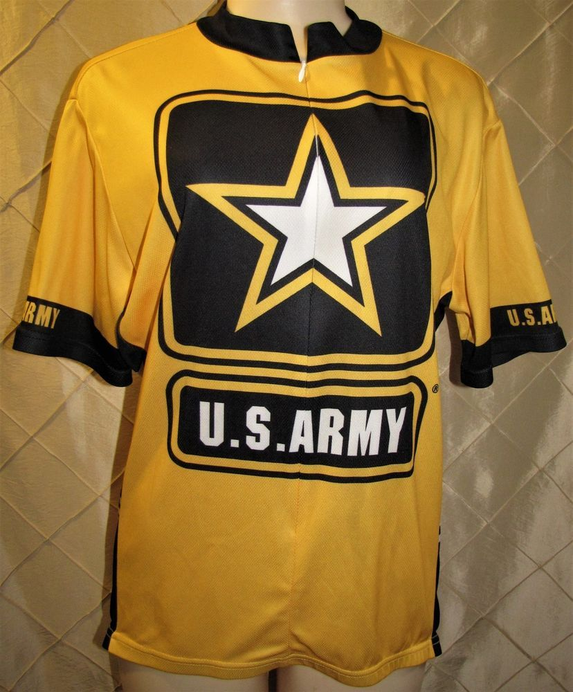 U.S. ARMY CYCLING JERSEY SHIRT XL MENS PRIMAL WEAR SHORT SLEEVE 3 4 ZIP 3  POCKET  PrimalWear 6673c44f9